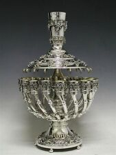 Sterling Silver Judaica Kiddush Wine Fountain 24 Cups Goblet 925 New