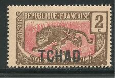 Chad #2 (A1) VF MINT - 1922 2c Leopard - Overprinted