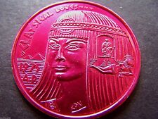 1977 Eros ANTHONY & CLEOPATRA--CLASSICAL LOVES Red Aluminum Mardi Gras Doubloon