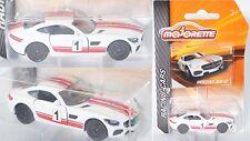 Majorette 212084009 Mercedes-AMG GT, weiß, 1, Nr 8/18 ca. 1:59, Racing Cars