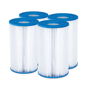 Summer Waves P57100204 Replacement Type A/C Pool and Spa Filter Cartridge, 4 Pk