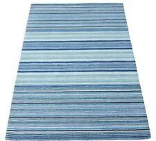 Blau Beige Teppich 100% Wolle 160X230 cm Orientteppich Handgetuftet HT339