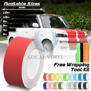 Matte Color Racing Stripes Vinyl Wrap Decal For Scion XB Sticker 25FT / 50FT