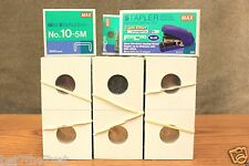 300 BCW Assorted 2x2 Cardboard Coin Holders + MAX FLAT CLINCH STAPLER + STAPLES