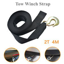 "1*Car Heavy Duty Tow Winch Strap 2"" Rope Hook Polyester Webbing For Boat Trailer"