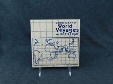 "2000 Grand World Voyage MS Rotterdam Blue Delft Royal Goedewaagen Tile 6"" X 6"""