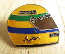 Formel 1Pin / Pins: Ayrton Senna - Helm als Pin - emailliert ! Selten!