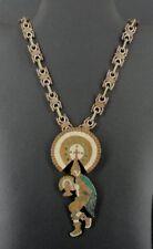 Vintage LOS CASTILLOS Taxco Mixed Metals Warrior Large Pendant Chain Necklace