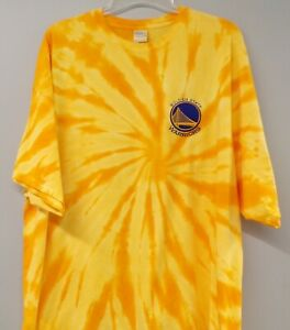 NBA Golden State Warriors Basketball Embroidered Tie-Dye T-Shirt S-4XL New