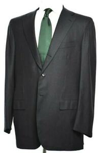 KITON Mens 3-BTN 14 Micron Super 180's Wool Suit Size 54 EU/ 44 R US NEW $9250