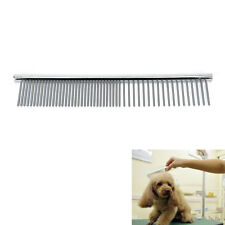 Stainless Steel Pet Dog Cat Pin Comb Long Hair Shedding Grooming Flea Puppy Comb