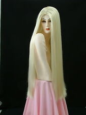 "Super Extra Long Wigs Show Girl Silky Straight  Jet Black  35"" MS5"