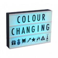 A4 luce cambia colore BOX-Parole colorate messaggio CINEMATOGRAFICO FINO 100 Lettere
