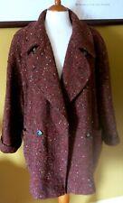 MAX MARA Rusty Brown Oversized Short Tweed Coat Size 12