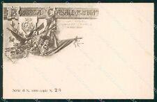 Militari 11º 12º Reggimento Fanteria Brigata Casale 29/1000 cartolina XF4401