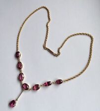 Garnet Necklace Edwardian Fine Jewellery