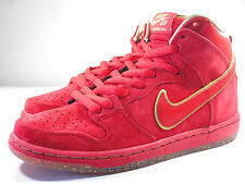 DS NIKE 2013 DUNK HIGH PREMIUM SB YOTH HORSE UNIVERSTY RED 7.5 SUPREME DENIM B