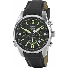 Aviator F Series Chronograph Black Leather Watch. 100 metres WR. New. RRP £139