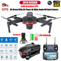 New X46G 5G WIFI FPV GPS Brushless Foldable RC Drone Quadcopter W/ 4K HD Camera