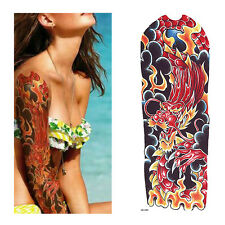 Temporary Tattoo sleeve Red dragon Stickers Body Art Waterproof