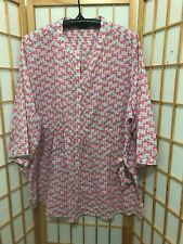 """BIB"" LADIES SIZE ""22"" PLUS SIZE FLATTERING SOFT COTTON BLOUSE WITH SIDE TIES"
