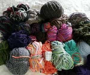 23  Merino Wool & Blend Yarn Scraps & Fulls Assorted 22 oz.
