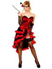 Adult WILD WEST SHOW GIRL Fancy Dress Western Saloon Showgirl Ladies UK Size6-20