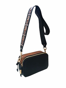 NWT Steve Madden Embroidered Camera Strap Bag - Black