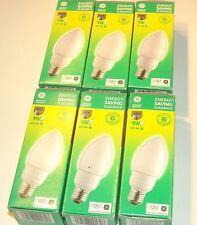 Lot de 6 ampoules économiques E27 9W (General Electric)