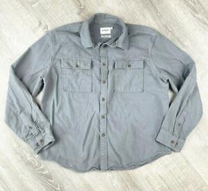Goodfellow Chamoise Cloth Long Sleeve Button Shirt Men's Size XL Gray Outerwear