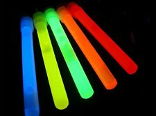 """100 4"""" Assorted Glow Sticks Bulk Wholesale Pack w/ FREE 100 Glow Bracelets"""