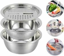 Multifunctional Stainless Steel Basin Creative Kitchen Drain Basin Shaving Basin