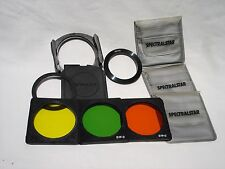 SPECTRALSTAR three color filter lot with holder, 52mm ring