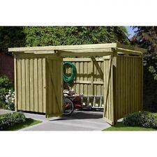Gerätehaus Gartenschuppen aus Holz Typ 3 Fahrrad-Unterstand Geräteschuppen