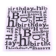Happy Birthday Plastic Embossing Folders For Card Making Friend Gift Decor Kits