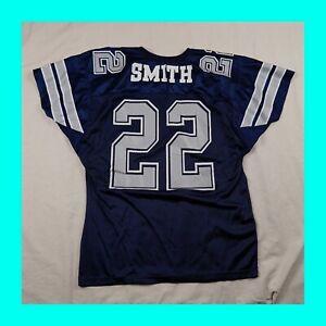 Vintage EMMITT SMITH DALLAS COWBOYS JERSEY, LARGE, WILSON TEAM NFL 90s #22