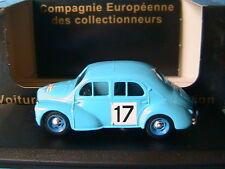 RENAULT 4CV #17 TOUR DE FRANCE CEC V3850 1/43 RALLYE BLEU CIEL SKY BLUE