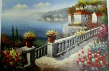 """Mediterranean  ~ Hand Painted High Quality Oil Painting on Canvas 24""""x 36"""""""