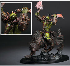 """WOW World of Warcraft Orc Warrior Wolf Rider Riding 10"""" Statue Action Figure Toy"""