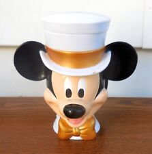 Disney on Ice - Mickey Mouse White & Gold Tuxedo Top Hat Mug [VHTF] (VGUC)