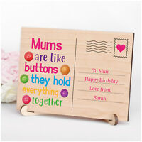 PERSONALISED Mums Are Like Buttons Birthday Gifts for Mum Mummy Nanny Her Quote