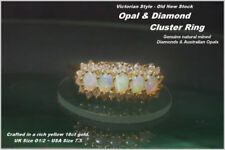 Gold Cluster Not Enhanced Fine Diamond Rings