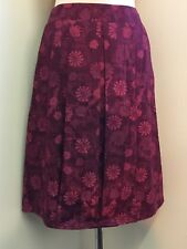 New Red Tapestry Ness Floral Front Pleated Skirt Size UK 10 Ladies Woman Free P&