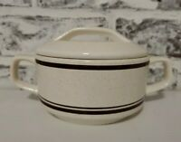 Lenox Vintage Temper Ware Cottonwood Covered Sugar Bowl / Dish Oven Safe GUC
