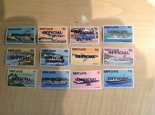 St Lucia Stamps. Transport. Official. Complete Set . SG O1-12