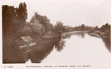 Maidenhead upstream from bridge RP old pc used 1913 WHS Kingsway