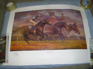 """29"""" X 21.5"""" JOHN HENRY FINAL CALL FRED STONE SIGNED LIMITED PRINT MINT"""