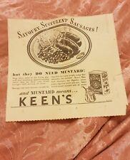Keen's Mustard - 1939 Advertisement