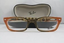Ray-Ban RB 5150 5487 Clear Brown/Peach New Authentic Eyeglasses 50mm w/Case