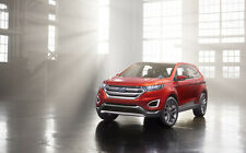 """FORD EDGE CONCEPT A2 CANVAS PRINT POSTER FRAMED 23.4"""" x 15.4"""""""